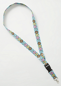Blue Donut Buckle Lanyard