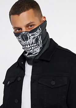 Black Skull Mask Face Warmer