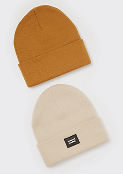 2-Pack Neutral Forever Young Beanies