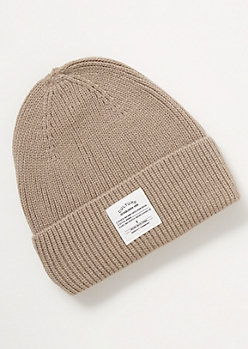 Gray Culture Embroidered Beanie