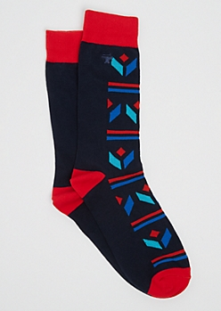 Geo Tribal Crew Socks By Stith