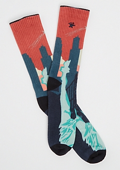 NYC Skyline Crew Socks By Stith