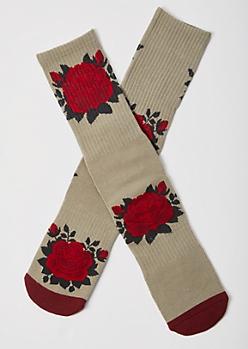 Putty Rose Cushioned Premium Crew Socks