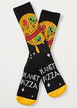 Black Planet Pizza Premium Crew Socks