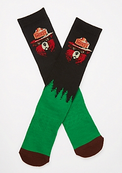 Black Smokey Bear Premium Socks