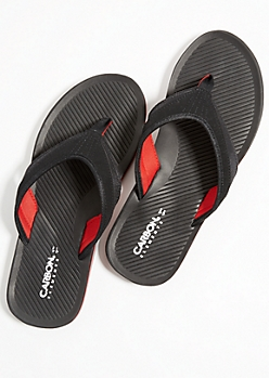 Black Favorite Colorblock Flip Flops