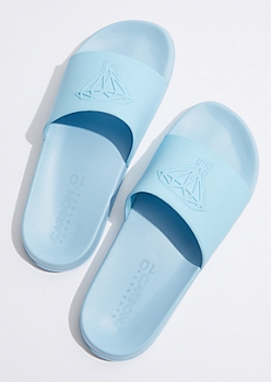 Blue Tonal Dripping Diamond Slides