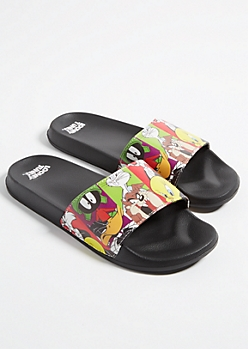 Colorblock Looney Tunes Slides
