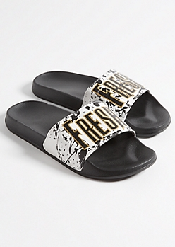 White Patterned Fresh Slides