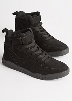 Black Strapped High Top Sneakers
