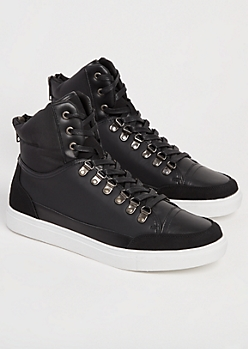 Black Honeycomb High Top Sneakers
