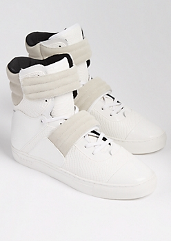Ivory Python Cylinder Sneakers