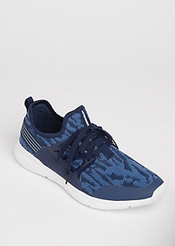 Navy Flex Sneakers