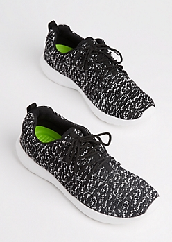 Marled Knit Low Top Trainers