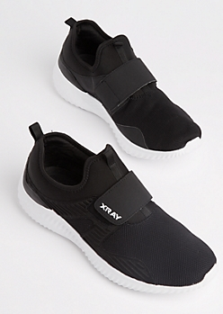 Cross Strap Low Top Trainers