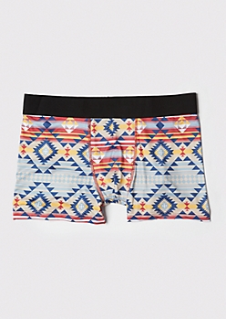 Geometric Print Active Boxer Trunks