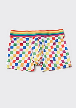 Rainbow Checkerboard Trunks