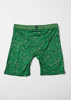 Green Pickle Rick Licensed Boxer Briefs