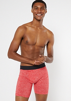 Red Marled Boxer Briefs