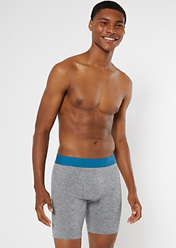 Gray Marled Boxer Briefs