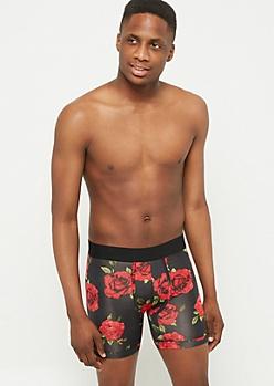 Black Rose Active Boxer Briefs