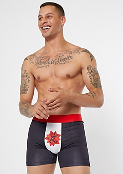 Black Colorblock Gift Bow Boxer Briefs