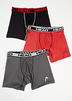 3-Pack HEAD Active Boxer Briefs Set