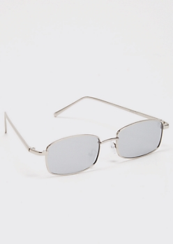 Silver Mirrored Micro Sunglasses