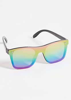 Rainbow Mirror Lens Shield Sunglasses