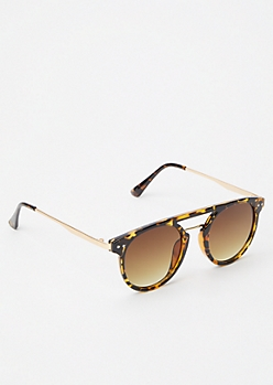 Brown Tortoise Aviator Sunglasses