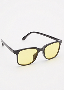 Yellow Tinted Squared Sunglasses