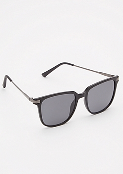 Matte Black Flat Top Sunglasses