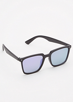 Matte Purple Reflective Sunglasses