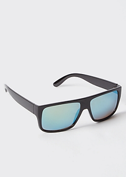 Black Wrap Sport Sunglasses