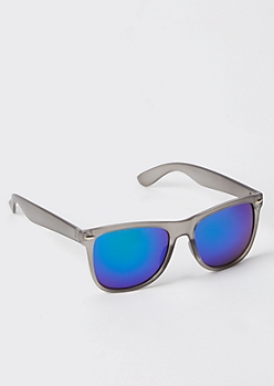 Clear Gray Square Sunglasses