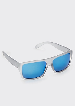 Gray Frosted Flat Top Sunglasses