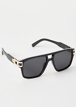 Black Gold Temple Navigator Sunglasses
