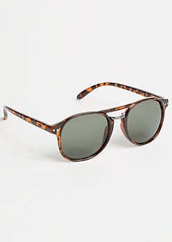 Brown Tortoiseshell Smoky Square Sunglasses