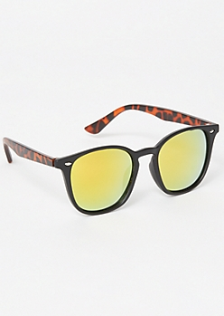 Tortoiseshell Mirrored Sunglasses