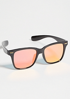 Black Square Frame Rose Sunglasses