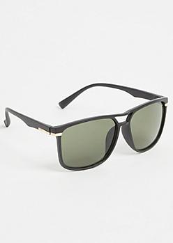 Black Matte Navigator Sunglasses