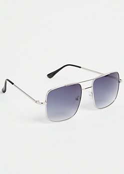 Silver Brow Bar Navigator Sunglasses