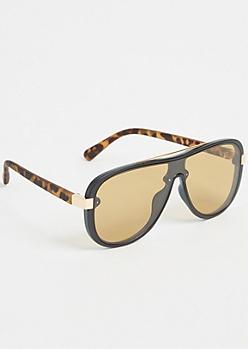 Tortoiseshell Flat Top Sunglasses