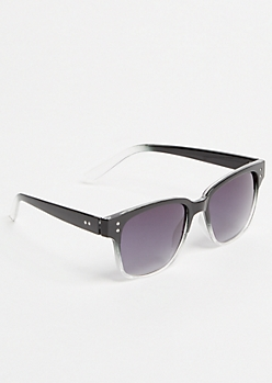 Black Ombre Square Sunglasses