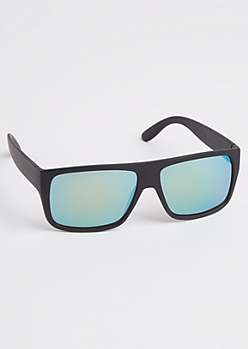 Black Matte Flat Top Sunglasses