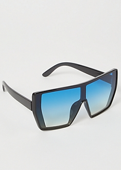 Blue Gradient Shield Sunglasses