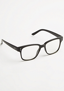 Black Square Clear Lens Readers