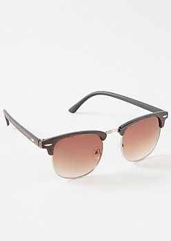 Wood Browline Sunglasses