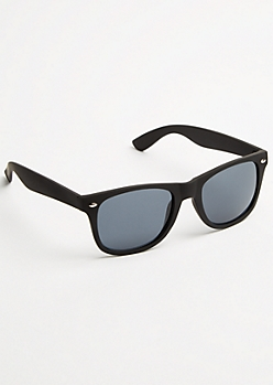 Black Matte Square Frame Sunglasses