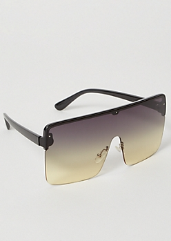 Yellow Gradient Shield Sunglasses
